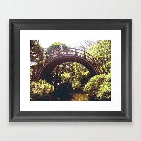 Tea Garden Bridge Framed Art Print
