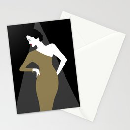 Glamour Girl On Stage Stationery Cards