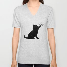Poetic cat Unisex V-Neck