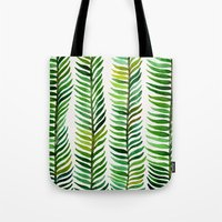 turquoise Tote Bags featuring Seaweed by Cat Coquillette