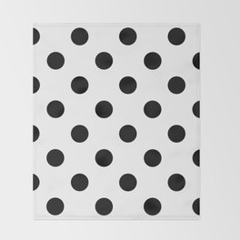 Polkadot (Black & White Pattern) Throw Blanket