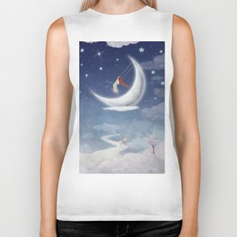 City of children on  fantastic clouds in the sky Biker Tank