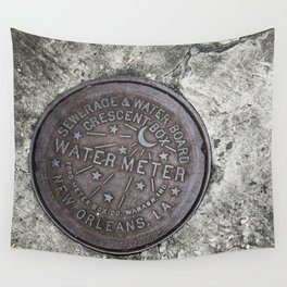New Orleans Watermeter in Color Wall Tapestry