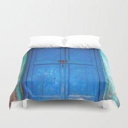 Blue Indian Door Duvet Cover