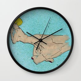 The Bulimic Sphincter #4 Wall Clock