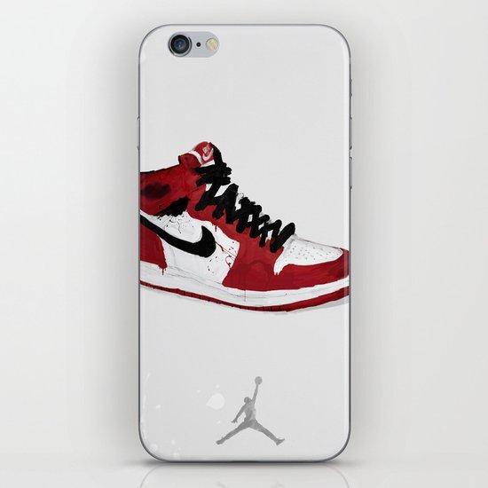 Nike Air Force 1 - Retro - Red & Black & White iPhone Skin