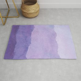 Ombre Waves in Purple Rug