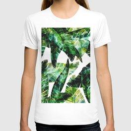 Green leaves of a banana. 2 T-shirt