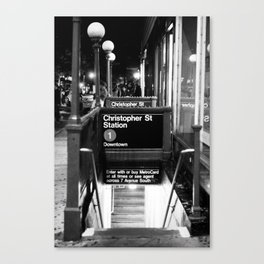 Christopher St. Station. West Village. New York, NY. 2014. Canvas Print
