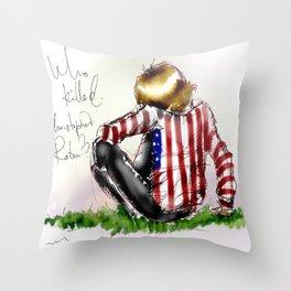 Brian Jones-Who killed  Christopher Robin? Throw Pillow