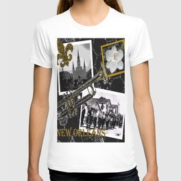 Classic New Orleans Black & white vintage collage T-shirt