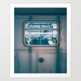 Same faces, different places Art Print