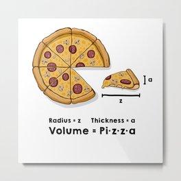Pizza formula Metal Print