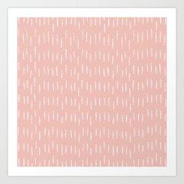 Festive, Boho Prints, Raindrops, Pink, Minimalism, Abstract Art Art Print