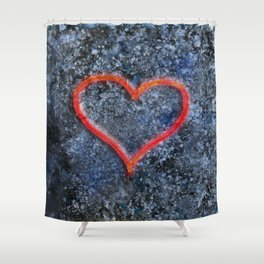 The love heart rises from the ashes and burns again Shower Curtain