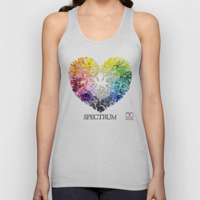 Spectrum Rainbow Heart Unisex Tank Top