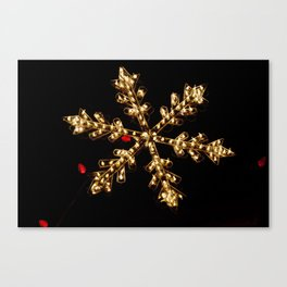 Abstract Golden Holiday Star Canvas Print