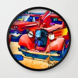 Vintage US classic car Wall Clock