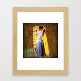 The kiss klimt and hayez mix Framed Art Print
