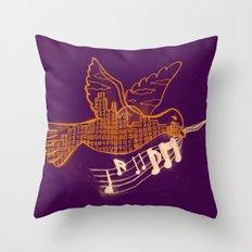 Musical Sunset Throw Pillow