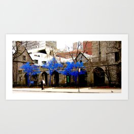 Blue Trees - Chicago Art Print