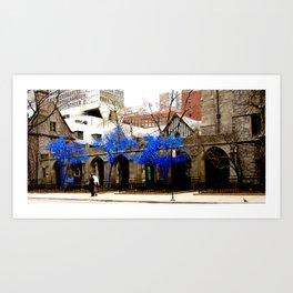 Blue Trees - Chicago Art Print