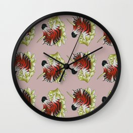 Red Zebracorn Wall Clock