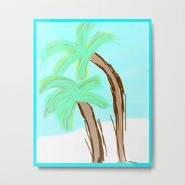 Palm Trees Awaiting a Storm #4 Metal Print
