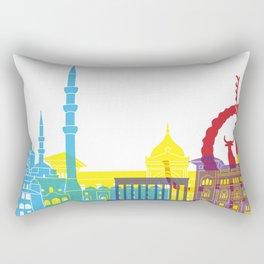 Ankara skyline pop Rectangular Pillow