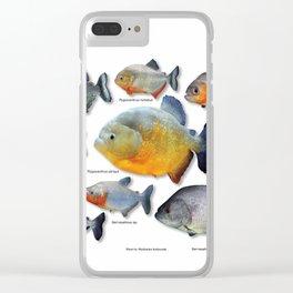Piranha family Clear iPhone Case