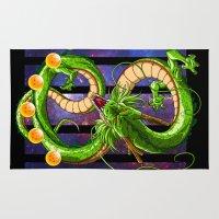 dragon ball Area & Throw Rugs featuring Dragon by TxzDesign