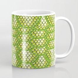 Green Snake Skin Pattern Coffee Mug