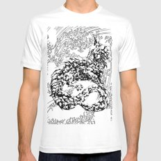 A Dragon from your Subconscious Mind #2 Mens Fitted Tee MEDIUM White
