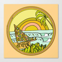 drifting to paradise surf art by surfy birdy Canvas Print