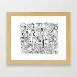 Doddle | Never Quit Drawing Framed Art Print