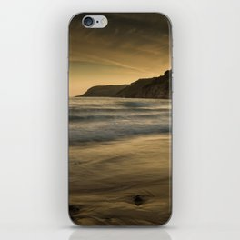 Sunset at Caswell Bay iPhone Skin