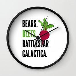BEARS, BEETS, BATTLESTAR, GALACTICA Wall Clock