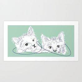 mint kittens 01 Art Print