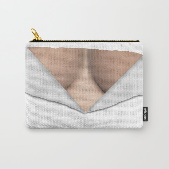 Torn Breast Cleavage Carry-All Pouch