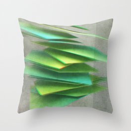 Anaglyph // Shards Throw Pillow