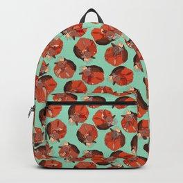 curled fox polka mint Backpack
