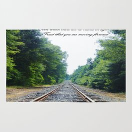 TRAIN Tracks Rug