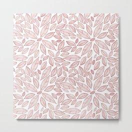 Hojas rosas Metal Print