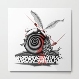 The road of the stubborn snail Metal Print