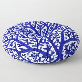 Fan Coral – Navy Floor Pillow