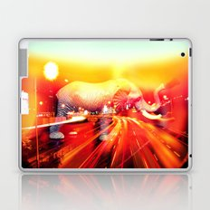 Elephant on the highway. Laptop & iPad Skin