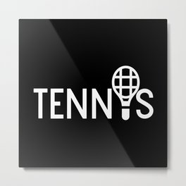 Tennis Sport Player Ball Racket Tiebreak Metal Print