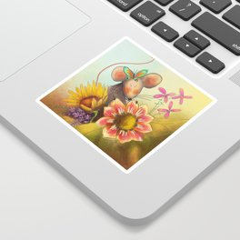 Spring Mouse Sticker