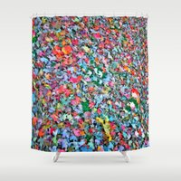 blanket Shower Curtains featuring Autumn Blanket by Angela Pesic
