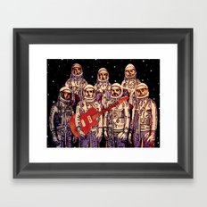 Astronauts with Guitar Framed Art Print